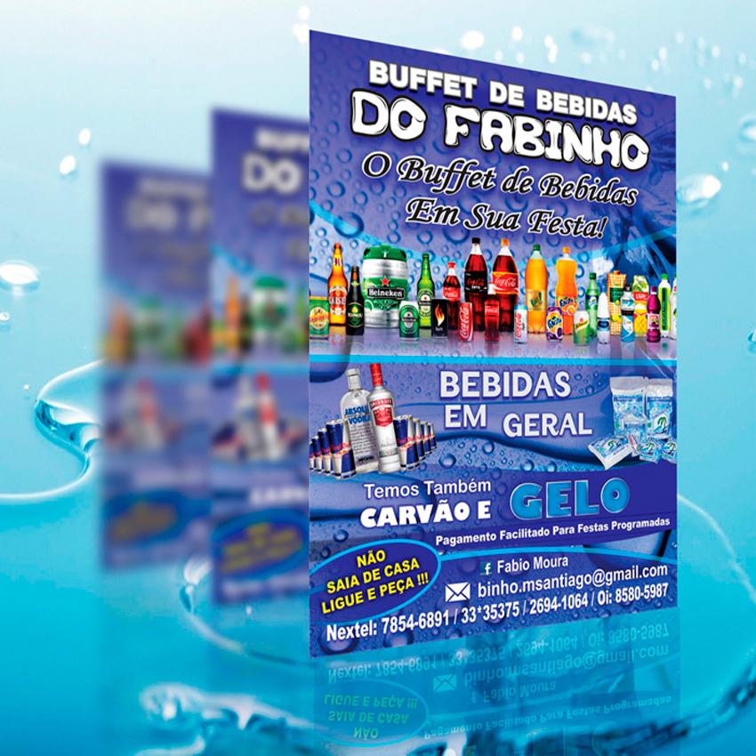 panfleto buffet de bebidas do Fabinho