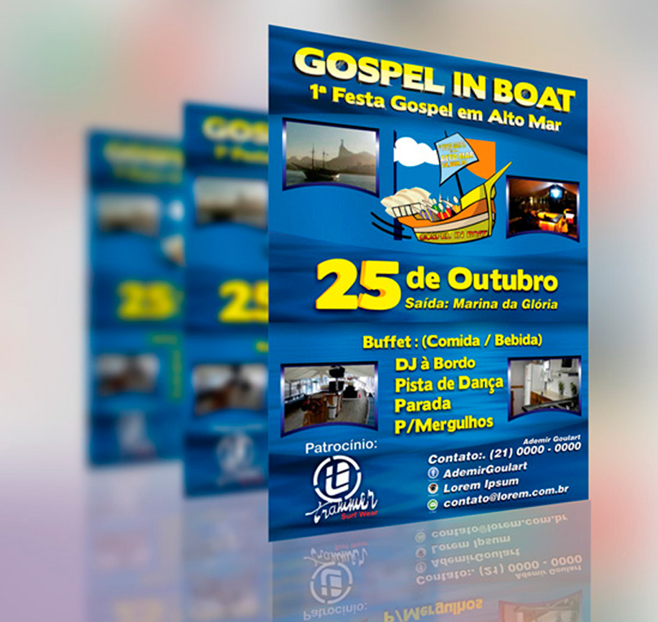 panfleto gospel in boat