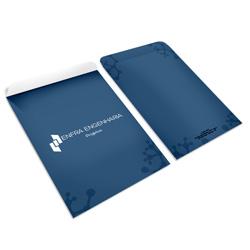 Envelope - 18x24cm- 4/0 cores - offset 90g/m²