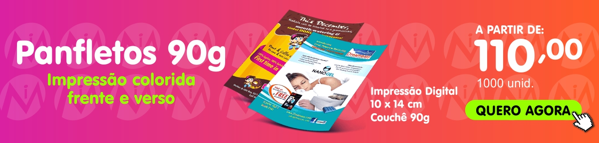 banner panfleto 90g 10 x14 - 4X4